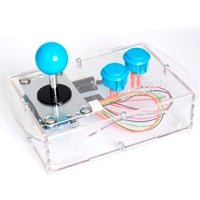 Clear Mini Monster Retro Gaming Joystick Kit - Ice Blue