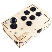 Plywood Deluxe Arcade Controller Kit for Raspberry Pi - Stealth Black