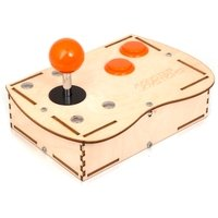 Plywood Mini Monster Retro Gaming Joystick Kit - Electric Orange