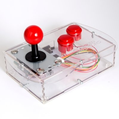 Clear BASIC Mini Monster Retro Gaming Joystick Kit - Cherry Red
