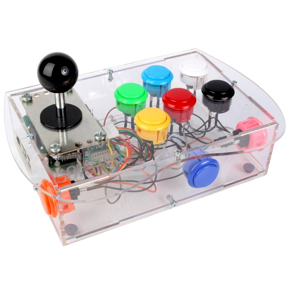 Clear Deluxe Arcade Controller Kit for Raspberry Pi - Classic