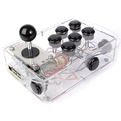 Clear Deluxe Arcade Controller Kit for Raspberry Pi - Stealth Black