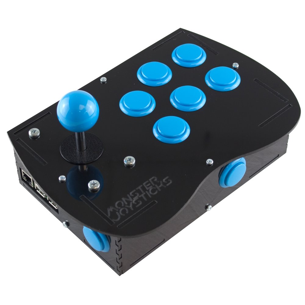 Deluxe Arcade Controller Kit for Raspberry Pi - Ice Blue