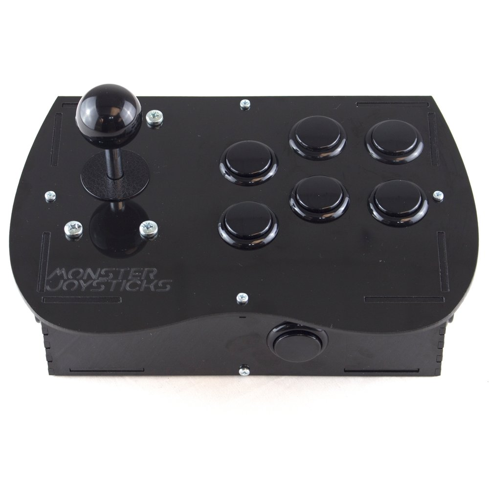 Deluxe Arcade Controller Kit for Raspberry Pi - Stealth Black