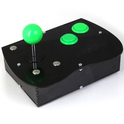 Deluxe Mini Monster Retro Gaming Joystick Kit - Jelly Green
