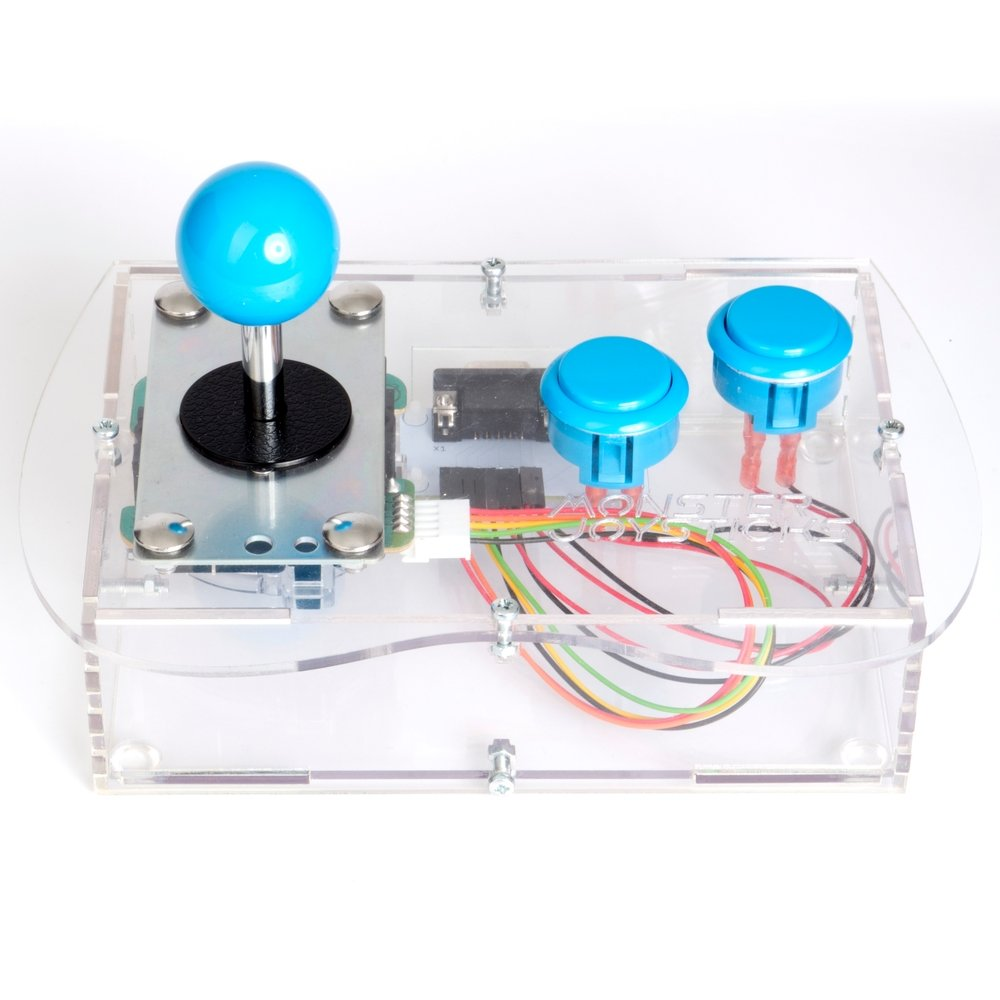 Terrific Clear Mini Monster Retro Gaming Joystick Kit Ice Blue Wiring Digital Resources Ommitdefiancerspsorg