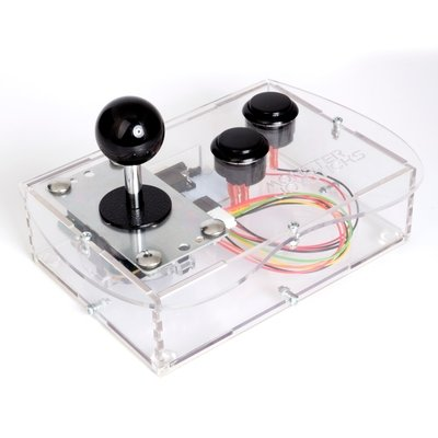 Clear Mini Monster Retro Gaming Joystick Kit - Stealth Black