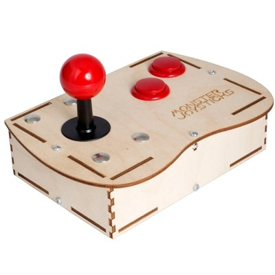 Plywood BASIC Mini Monster Retro Gaming Joystick Kit - Cherry Red