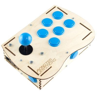 Plywood Deluxe Arcade Controller Kit for Raspberry Pi - Ice Blue