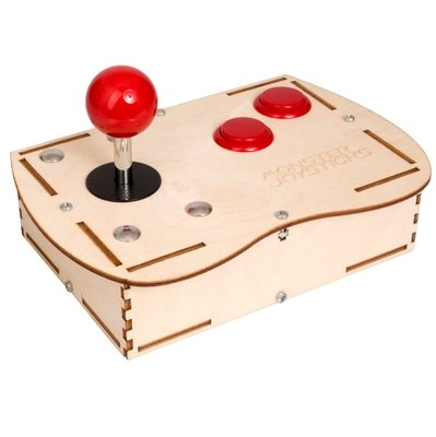 Plywood Mini Monster Retro Gaming Joystick Kit - Cherry Red