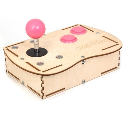 Plywood Mini Monster Retro Gaming Joystick Kit - Cyber Pink