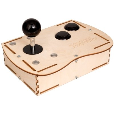 Plywood Mini Monster Retro Gaming Joystick Kit - Stealth Black